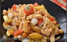 Háromhagymás csirke aprópecsenye recept fotóval