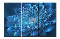 Create a relaxing refuge in your home with lotus flower wall art. You can use lotus flower wall decor in any room of your home but especially bedrooms, living rooms and bathrooms.  Although I love it in my office.  You can find cute lotus flower clocks, lotus flower wall tapestries, lotus flower wall decals, lotus flower wall murals that loook cute. Canvas Print Wall Art Painting - 3 sets pictures of Flower Lotus Blue High Cat Paintings -