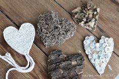 Rustic valentines, by Funky Junk Interiors, featured on FOLK Magazine's Blog