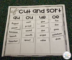 Vowel Team Sorting Page
