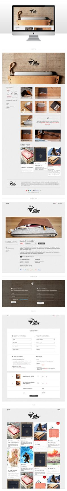 E-commerce design for Artberry by Eugenee Kremnyova, via Behance