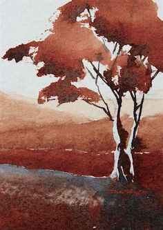 Watercolor, perfect for gentle laid back relaxing. Whether its shrouded marshland, or peach tinted skies these paintings are wonderfully contemplative.