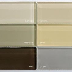 Our Lush glass subway tile collection of Neutrals. www.modwalls.com