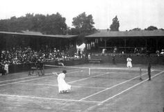 Final of the ladies' lawn tennis single tournament at the 1908 Summer Olympics.     ...Bet there wasnt any grunting/groaning/squealing goin on, as it duz today!!.....