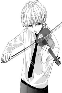 Image via We Heart It https://weheartit.com/entry/175678397 #anime #manga #monochrome #music #violin #mangaboy