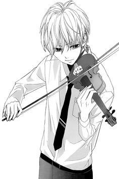 Image via We Heart It https://weheartit.com/entry/175678397 #anime #manga #monochrome #music #violin #mangaboy