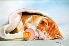 Gatet (aquarel·la) Gatito (acuarela) Kitten (watercolour)