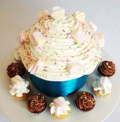 Marshmallow Giant Cupcake