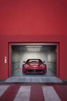 Ferrari Red Garage