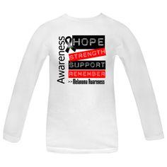 Melanoma Women's White Long Sleeve T-Shirt | Hope Dreams Cancer Awareness Ribbon Shirts and Gifts
