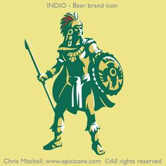 Indio Beer brand icon by Chris Mitchell