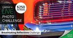 I joined The Breathtaking Reflections live photo challenge for my chance to win $250!