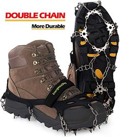 ICY GROUND WALKING AIDS by DueNorth EVERYDAY G3 FOOT TRACTION L//XL