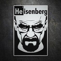 Pegatinas: Breaking Bad Heisenberg #BreakingBad #Vinilo #Pegatina