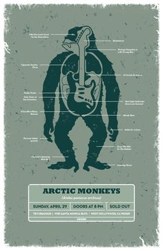Arctic Monkeys gig poster by DKNG Tour Posters, Band Posters, Music Posters, Arctic Monkeys, Indie Music, Art Music, Monkey Pictures, Pochette Album, Concert Posters