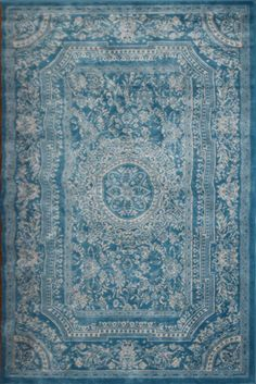 Amazon.com - Light Blue Traditional French Floral Wool Persian Area Rugs 5'2 x 7'3 - Machine Made Rugs