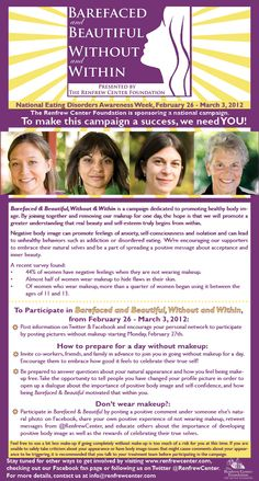 barefaced and beautiful.  could you go without makeup for a week?    renfrew center foundation