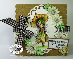 Octavia Moonfly Wistful - Polkadoodles Inky Pinky DT card