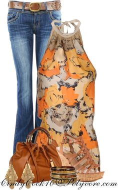 """""""Jeans and Halter Top"""" by cindycook10 on Polyvore"""