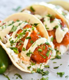 Crispy Honey Chipotle Chicken Tacos with Cilantro Lime Rice