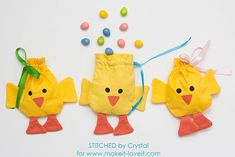 Sew a Drawstring Chick Treat Bag for Easter! | Make It and Love It | Bloglovin'