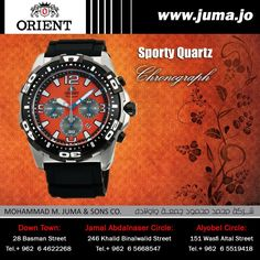 Check out the new arrival of orient sporty quartz watch... #orientwatch #orientwatches #wristwatch #CHRONOGRAPH #SPORT #QUARTZ #luxury #fashion #watch #watches #orient #online #juma #jumajordan #jumastore #amman #jordan #jo #الأردن #ساعات #اورينت https://goo.gl/XZDu78