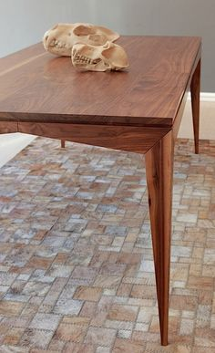 Bridge Dining Table in Walnut - by Leonard de Villiers for Ebony.