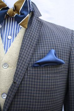 Men's Vintage 3 Button Gingham Shepherds Checked Sport Coat by ViVifyVintage