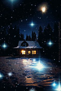 gif_wınter_snowfall_ item) All together Good Night Gif, Good Night Image, Gif Pictures, Winter Pictures, Christmas Scenes, Christmas Pictures, Gif Bonito, Animiertes Gif, Night Sky Painting