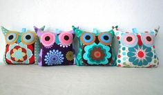 owl pillow. Oh my gosh! These are adorable! LOVE the colors!!