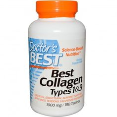 Doctor's Best, Collagen, Types 1 & 3, 1000mg, 180 Tablets