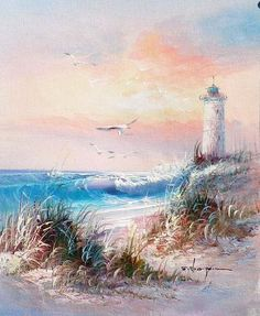 Oils - Lighthouse by J Thompson. oil on canvas 26 x 21 cm. for sale in Johannesburg (ID:217897080)