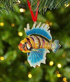 30.00-Dillards Trimmings Cloisonne 35 Fish Ornament #Dillards