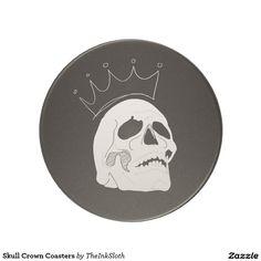 #Skull #Crown #Coasters