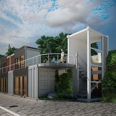 Beach hostel from shipping containers, Andrey Tkachyk
