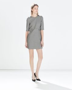 Image 1 of Houndstooth check dress from Zara