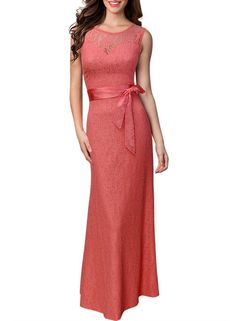 New Women Lace Dress Slash O-Neck Sleeveless Elegant Hollow Out Lady Sexy Evening Party Backless Bodycon Vestidos Long Dresses