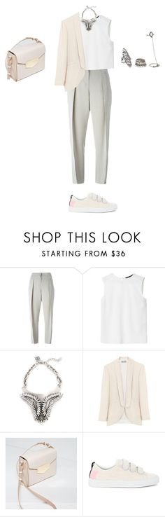 """""""Untitled #1079"""" by elenekhurtsilava ❤ liked on Polyvore featuring Giorgio Armani, Zara, Shelly Brown, MSGM and Forever 21"""