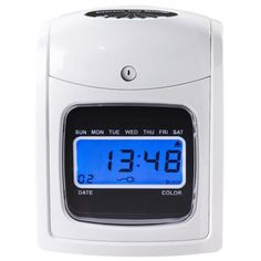 Managing your employees' time just got easier! This time clock gives you everything you need to start tracking and managing your employee time and attendance, including punch electronic time clock power adapter ink ribbon 1 Portable Canopy, Digital Safe, Card Machine, Drum Pad, Pvc Panels, Black Dating, Time Clock, Digital Alarm Clock