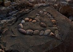 """""""LOVE"""" IS MARKED IN STONE"""