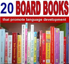 board books that promote language development.great for speech delayed children (also tells why) - great books for all kids Speech Therapy Activities, Speech Language Pathology, Language Activities, Speech And Language, Book Activities, Toddler Activities, Sign Language, Toddler Speech, Toddler Books