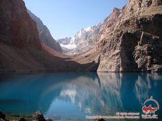 Lakes in the Fann Mountains. Tajikistan http://www.centralasia-travel.com/en/trekking/pamir/fan-heart/foto?cat=74  #fannmountains #Fanns #pamir #mountains #Tajikistan #lakes #peaks