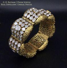 Enamel Jewelry, Jewelry Art, Jewelry Design, Ring Bracelet, Bangle Bracelets, Bangles, Uncut Diamond, Diamond Cuts, Designer Jewellery