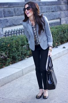 blazer and flats - classic