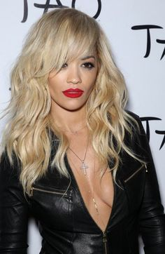 Best of the Week: Get Inspired By Selena Gomez's Ombre, Rita Ora's Red Lip, Rick Y, New Boyfriend, Golden Blonde, Julie, Loose Waves, Rita Ora, Hairstyles With Bangs, Blonde Hairstyles, Haircuts