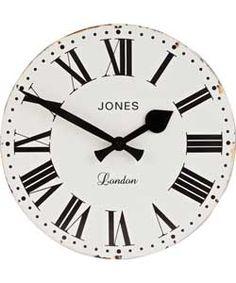 Jones Home White Clock