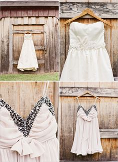 love the two dress idea (only if each of the dresses are reasonably priced though, cause you shouldn't go breaking the bank on a dress you are going to wear once...just saying)