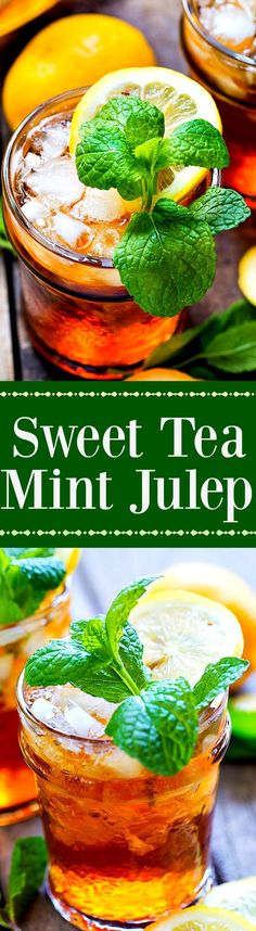 A blend of two favorite southern drinks, this Sweet Tea Mint Julep is perfect for Derby Day or a leisurely afternoon spent in a rocking chair on the front porch.