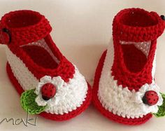 Crochet patterns baby booties e-Book Permission by MakiCrochet