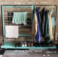 diy clothes rack - Bing Images
